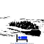 Uomini in barca in cerca di aiuto